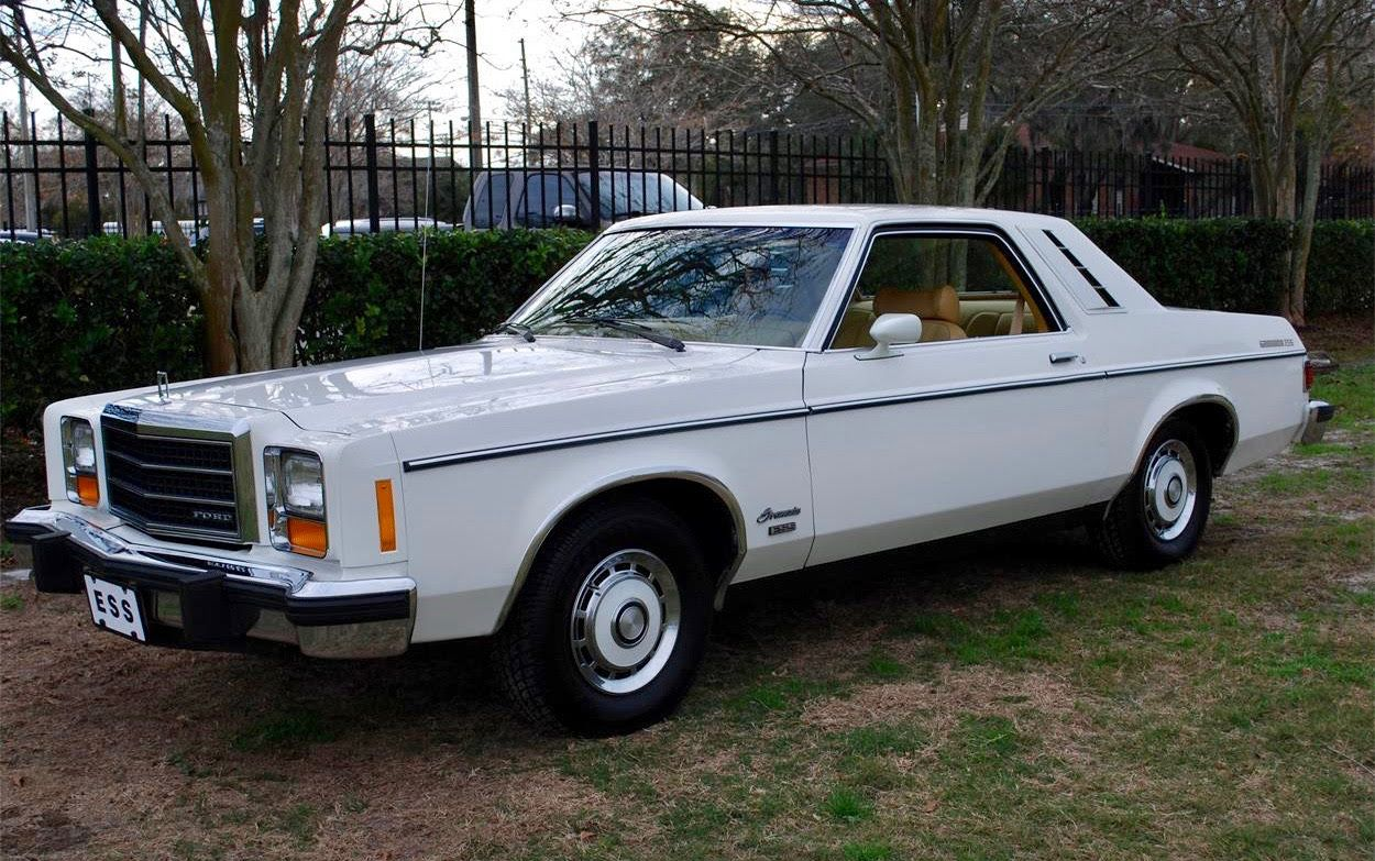 1978 Ford Granada Ess 2dr Coupe White With Red White Interior