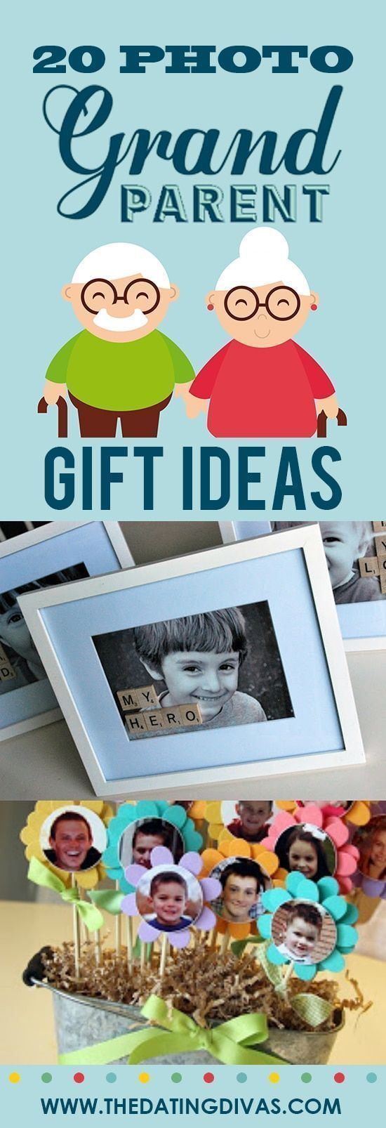 101 Grandparents Day Ideas - From #bestgiftsforgrandparents Photo gift ideas for Grandparents Day - Easy DIY Crafts and activities for kids to make for their Grandparents - perfect personalized photo presents for adapting to Grandma, Grandpa, Nana, Pop, Papa, Grammy...  #datingdivas #grandparentsday #photopresents #grandparentsdaycrafts