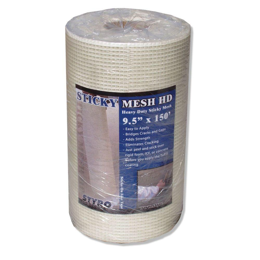 Styro Industries 9 1 2 In X 150 Ft Sticky Mesh Heavy Duty Sm9 The Home Depot In 2020 Rigid Foam Insulation Insulated Concrete Forms Foam Insulation