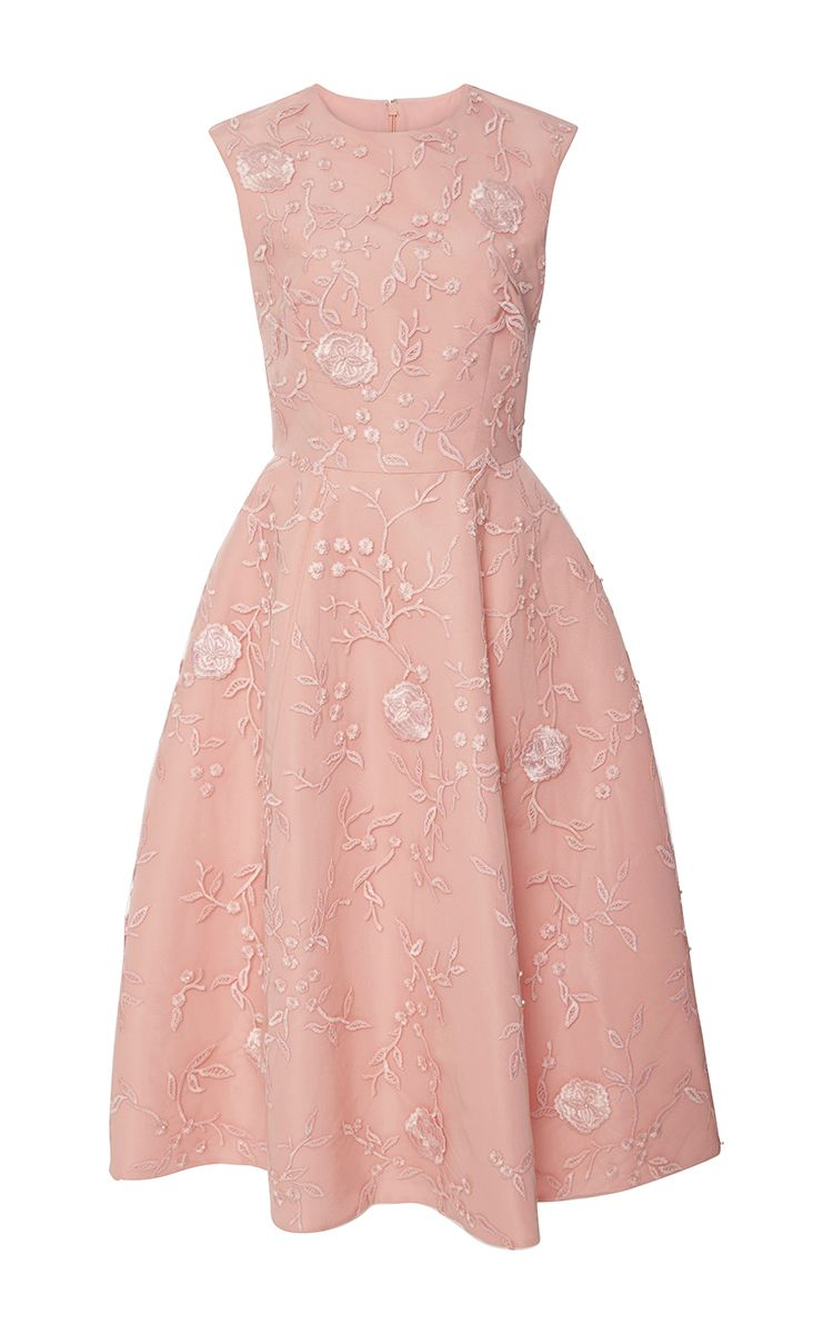 Floral Embroidered Tea Dress by Monique Lhuillier | My Style ...