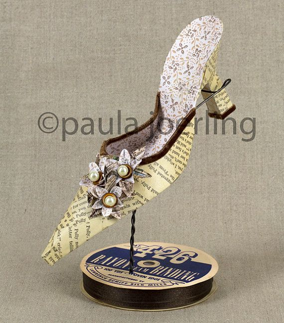 Paper Shoe Sculpture Polly by PaulaJoerlingStudio on Etsy