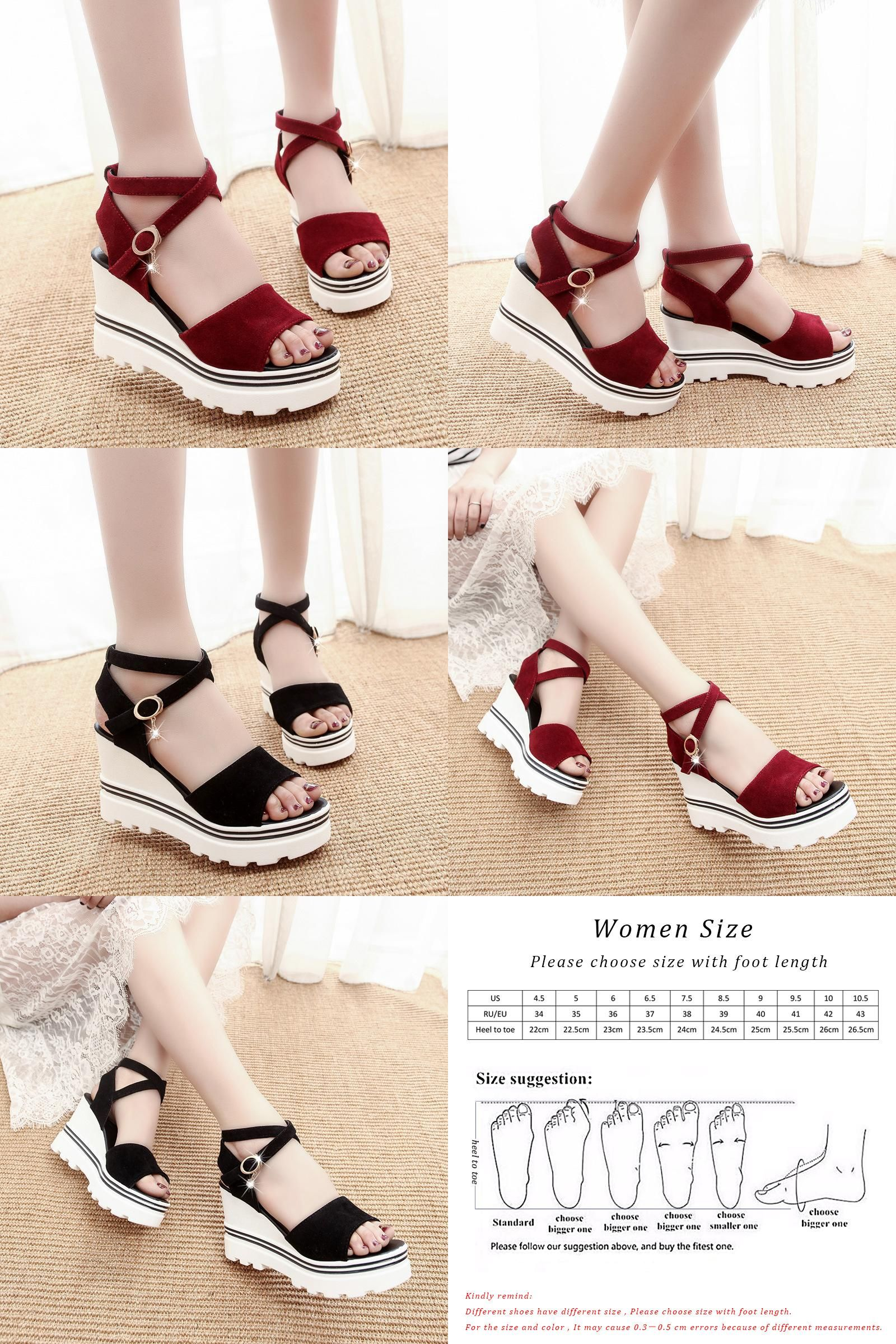 22c7ae568e90  Visit to Buy  KUIDFAR Women s sandals Women s Summer Shoes Wedges Sandals  On The Platform