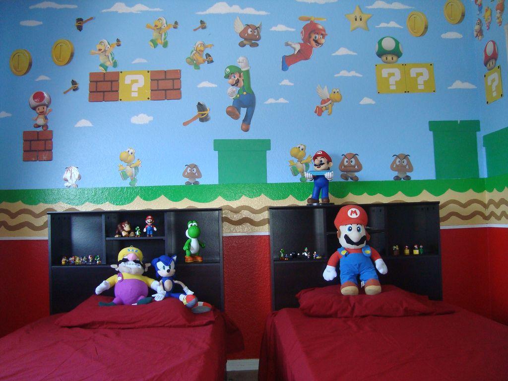 Cuarto De Mario Bros Parte De La Pared Habitacion De Mario Decoracion Habitacion Nino Decoracion De Mario Bros