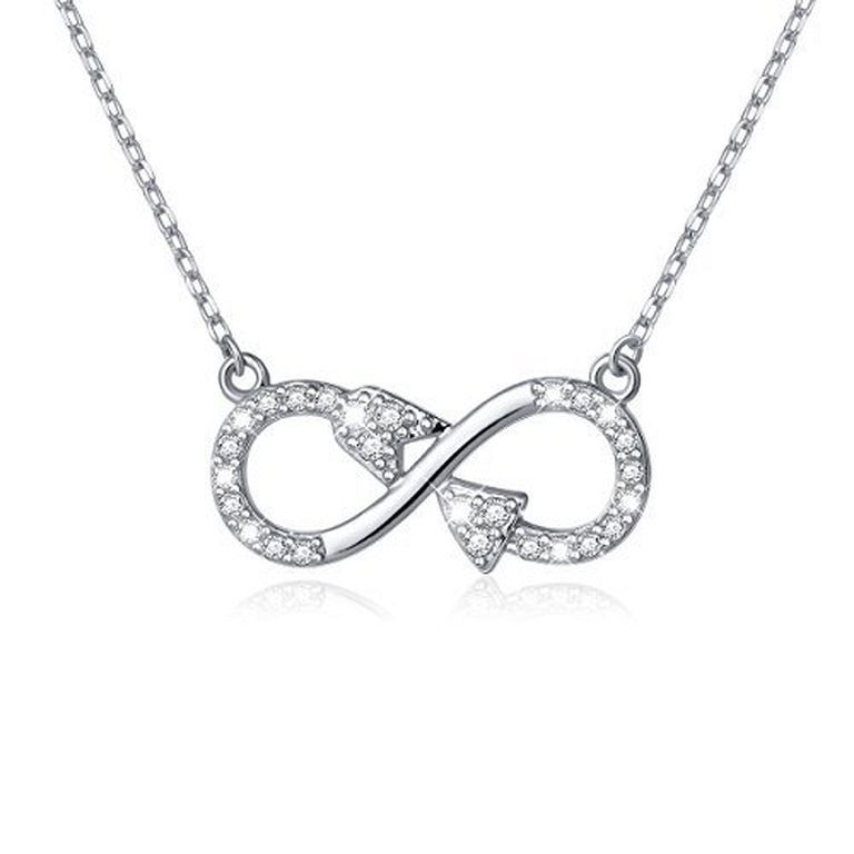 Sterling Silver Infinity Loop Pendant/Necklace - Chain 20 7IywqE3
