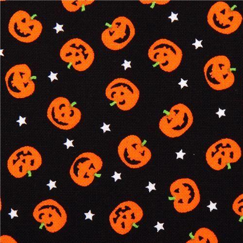 black pumpkin fabric timeless treasures jack o lanterns halloween - Black And Orange Halloween