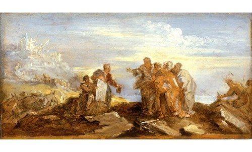 """Photo of Poster """"Scene from Ancient History, C.1680-90″ von Joseph Parrocel, Kunstdruck East Urban Home Größe: Mittel"""