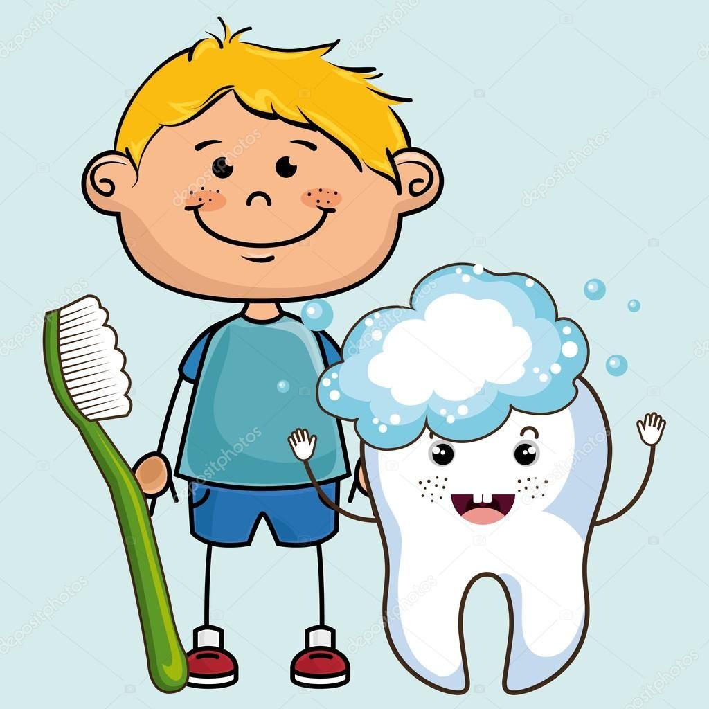 Resultado de imagen para niño con cepillo de dientes animado ...