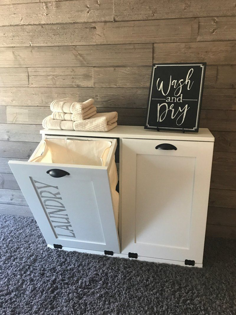 Tilt out laundry hamper double bin (D-LAU-W-STEN) images