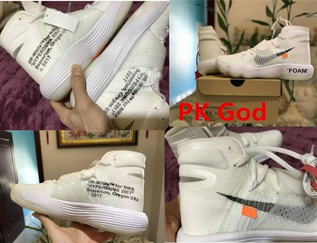 brand new 5e770 98fdb cheapest OFF WHITE x Nike Hyperdunk sneakers sport shoes cheapest legit  check review on feet release