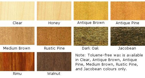 Briwax Original Wax Colour Chart Brief Pushing Boundaries