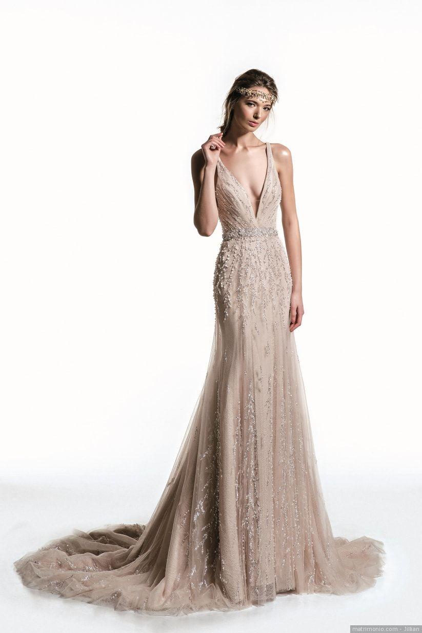 dc33d22f08e2 Jillian  Vestito da sposa con pietre