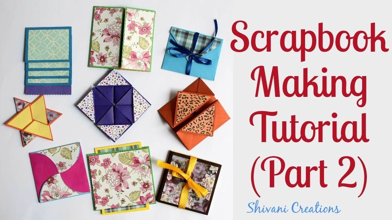 how to make scrapbook pages 9 different cards ideas diy
