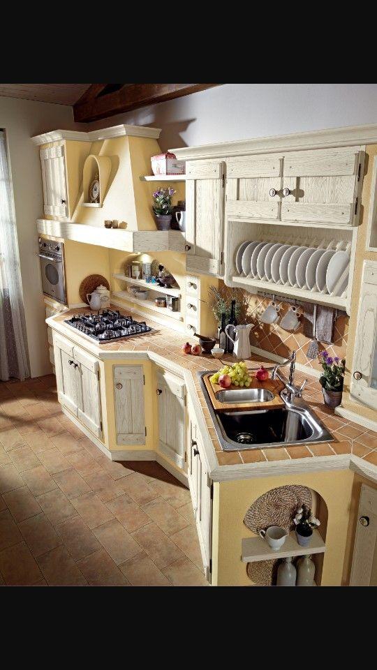 Cucina muratura | Cucine rustiche, Cucina in muratura e Cucine