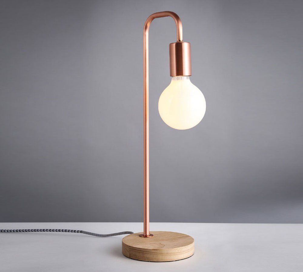 flexa creation early dew : Home Use Desk Lamp 40w Wooden Base And Metal Support Bar Lamp
