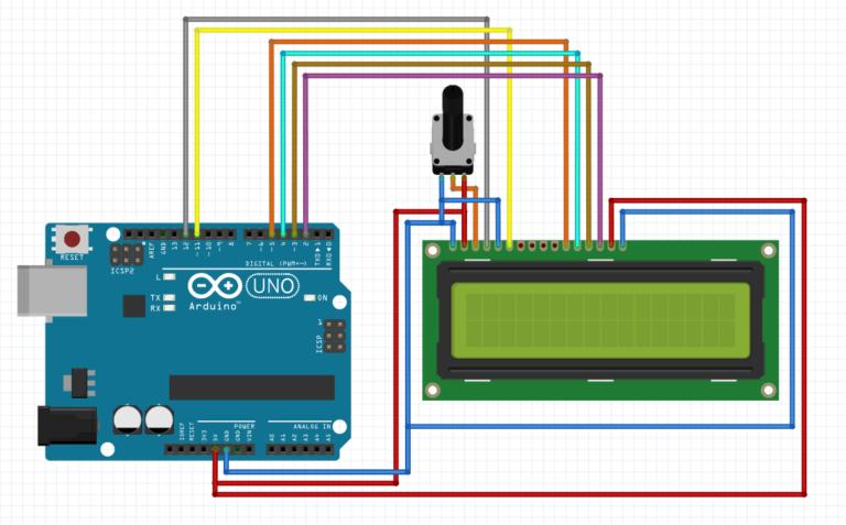 lcd arduino display