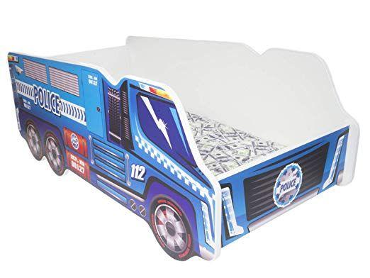Kleinkinder Kinder Bett inkl. Matratze Auto Truck