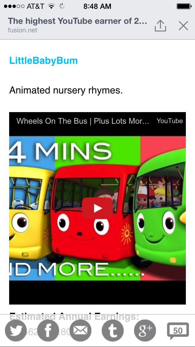 Nursery Rhymes on YouTube