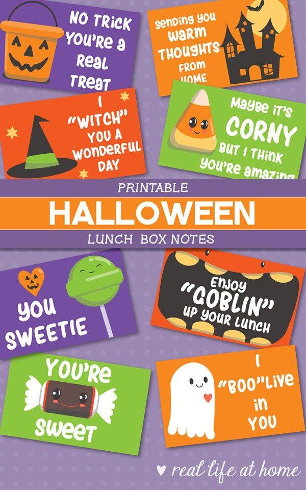 Halloween Lunchbox Notes: Free Printable Halloween Jokes for Kids