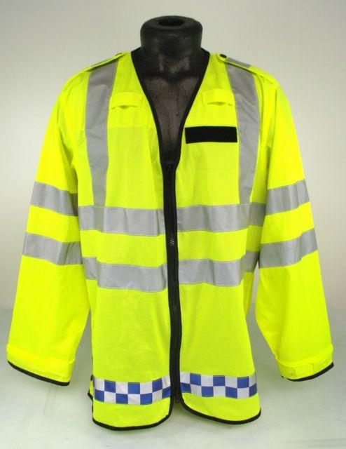 Ex Police Hi Vis Lightweight Reflective Motorcycle Bomber Jacket