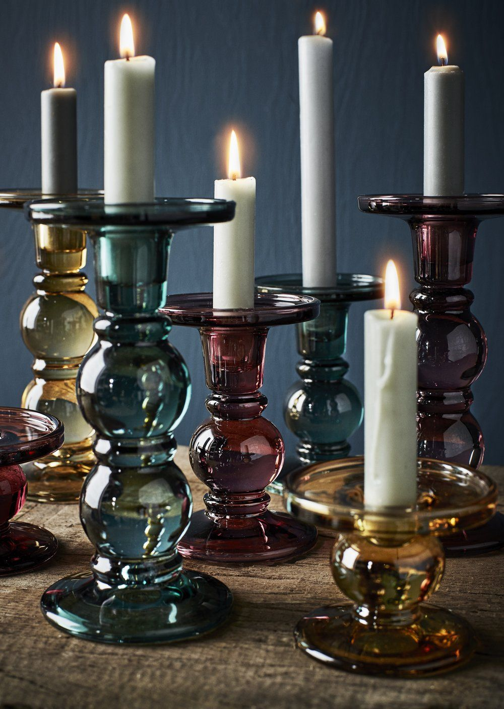 Coloured Glass Candle Holders Large Candle Holders Glass Candlesticks Glass Candle Holders