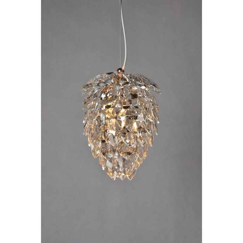 Youll love the 1 light crystal chandelier at wayfair great deals on