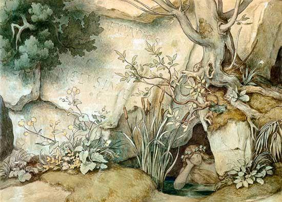 Titre de l'image : Moritz von Schwind - Fontes Melusinae