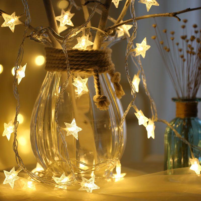Aliexpress Com Comprar 8 M 50 Led De Cinco Puntas Forma De Estrella Del Centelleo Luz De La Secuencia Con P Guirnalda De Luces Luces De Navidad Luces De Hadas