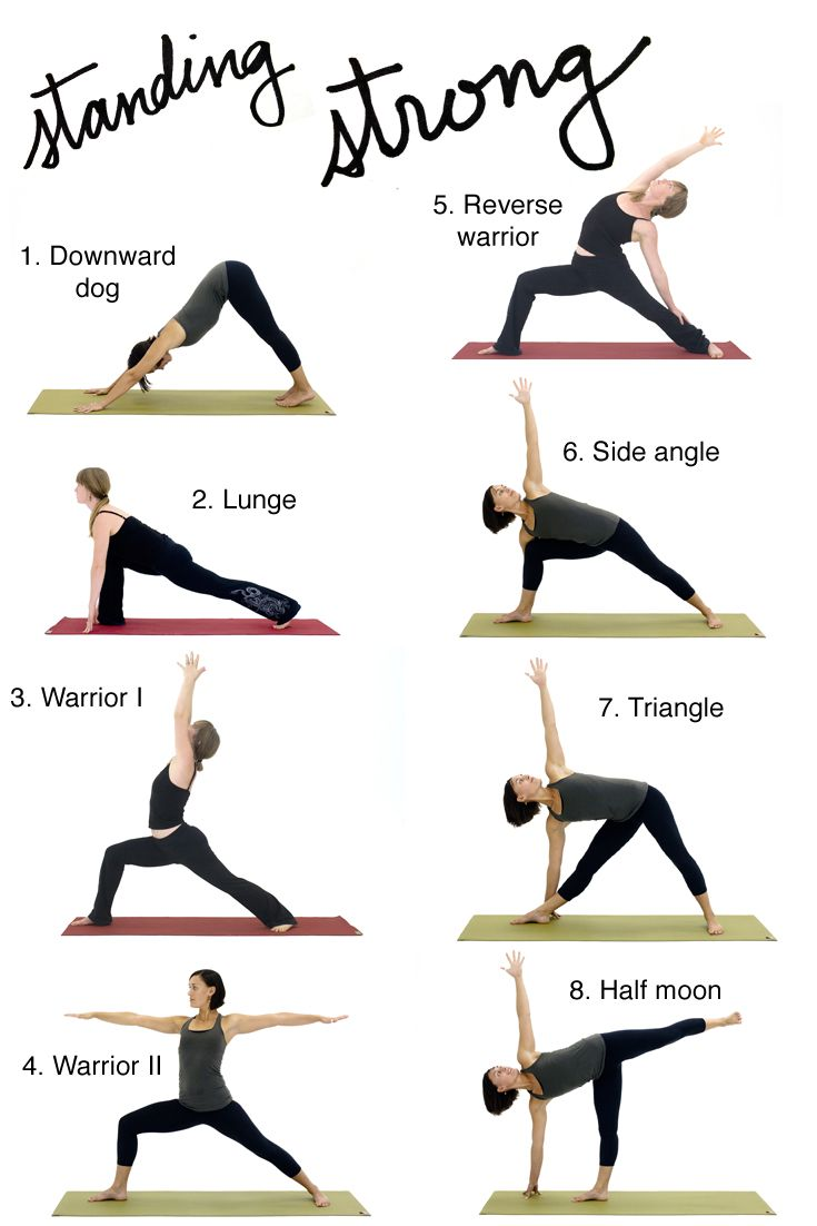 Flow Sequence Of Classic Standing Poses For Home Practice Standing Yoga Poses Easy Yoga Workouts Yoga For Beginners