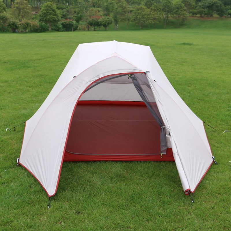 Cheap 4 season tent Buy Quality tent double directly from China c&ing tent Suppliers Hillman ultralight professional Person C&ing Tent waterproof ... & Hillman new arrival double layer aluminum poles 3 person use ...