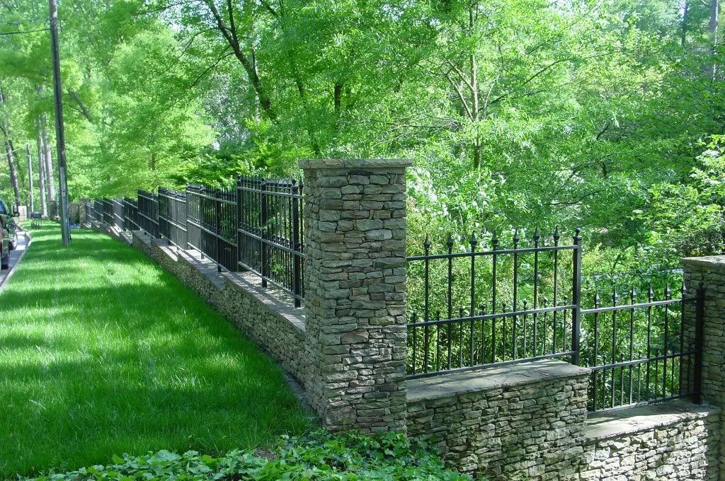 Landscape design slope drainage with gabion steep side for Landscape drainage slope