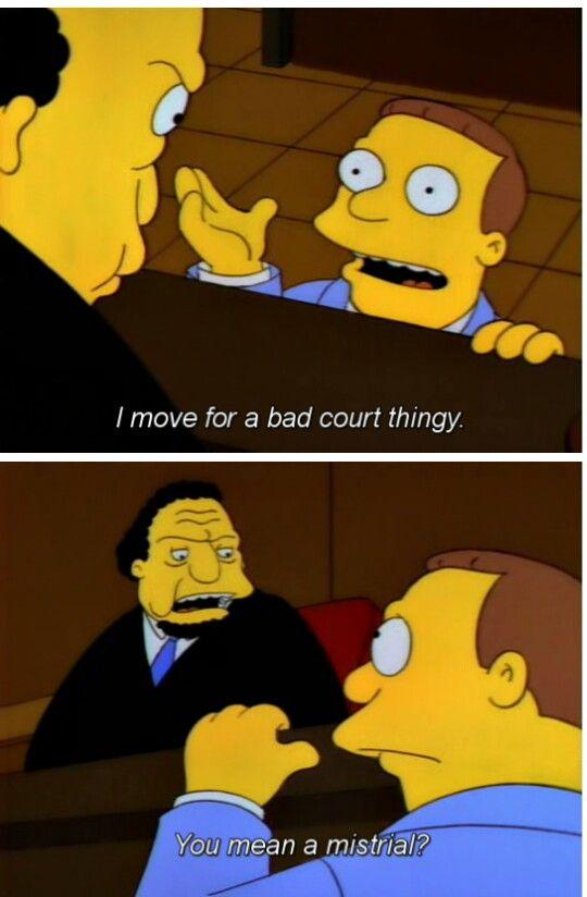 Simpsons Law School Humor Law School Life Legal Humor