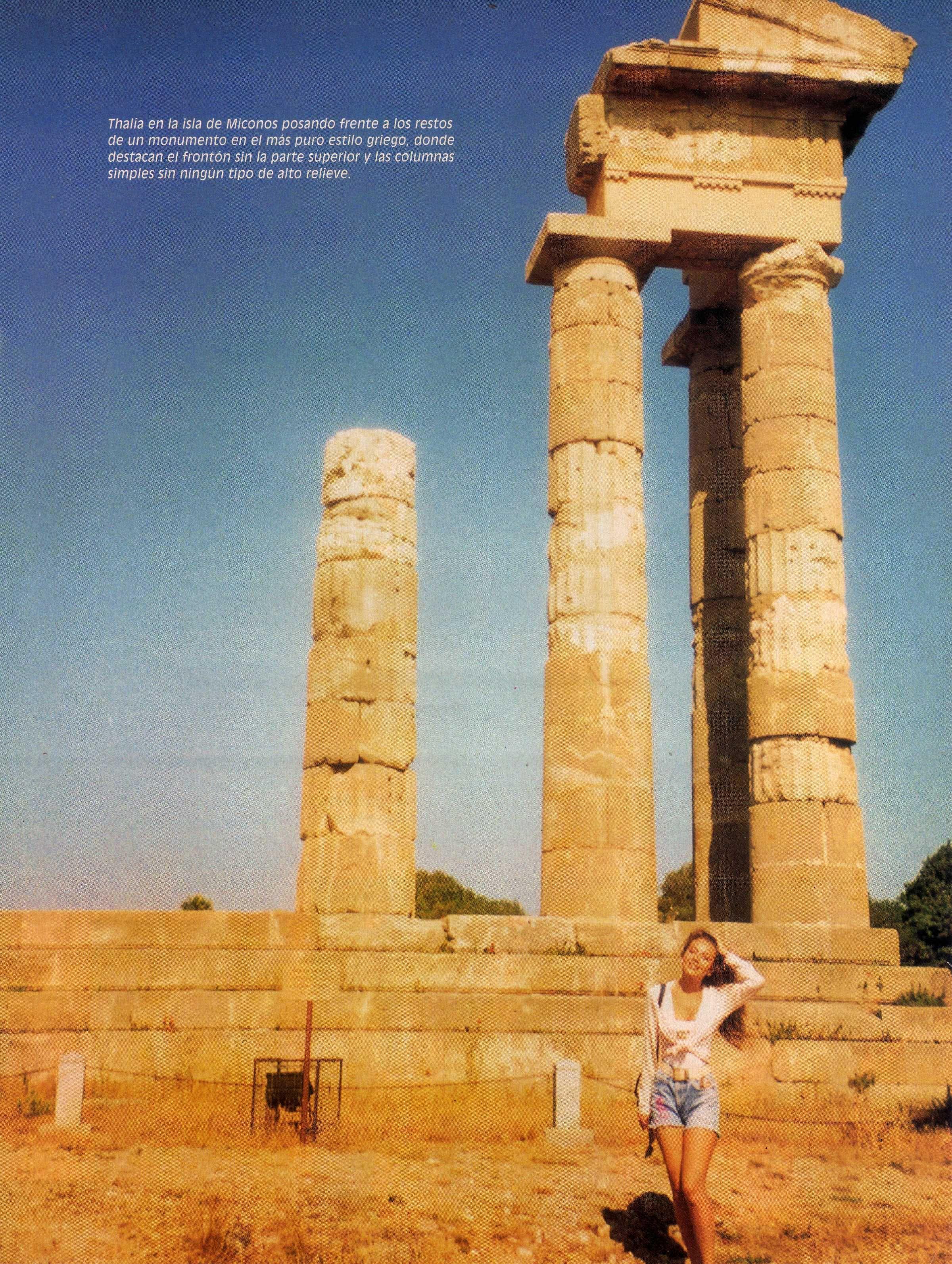 vacaciones de thalia en grecia