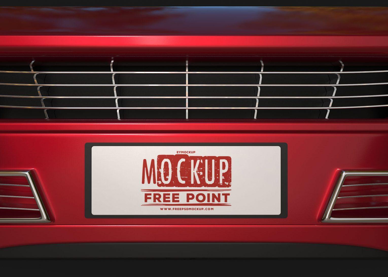 Car Plate Design PSD Mockup Download for Free Utilidades