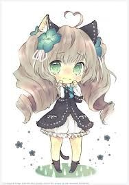 Anime Chibi With Cute Little Cat Ears X3 With Images Chibi