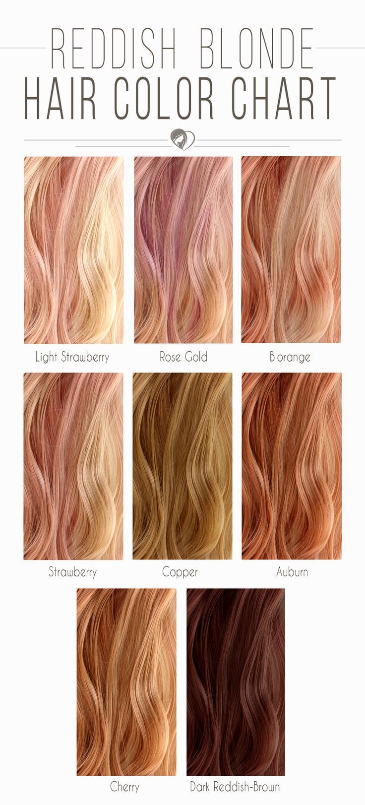 Hair Color 2017 2018 Reddish Blonde Hair Color Chart Blondehair