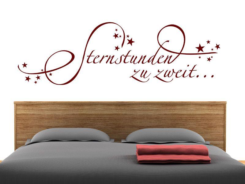 Wandtattoo Sternstunden zu zweit Schlafzimmer