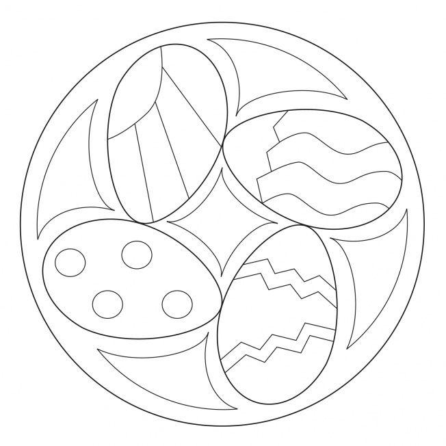 Osterei Mandala 2 Malvorlagen Ostern Mandala Ostern Osternest Basteln