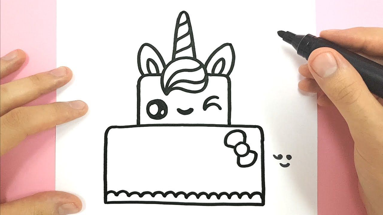 COMMENT DESSINER UN GATEAU LICORNE KAWAII , YouTube en 2019