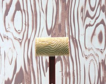 Wood Grain Wall Paint Roller Floral Flower Patterned Paint Roller