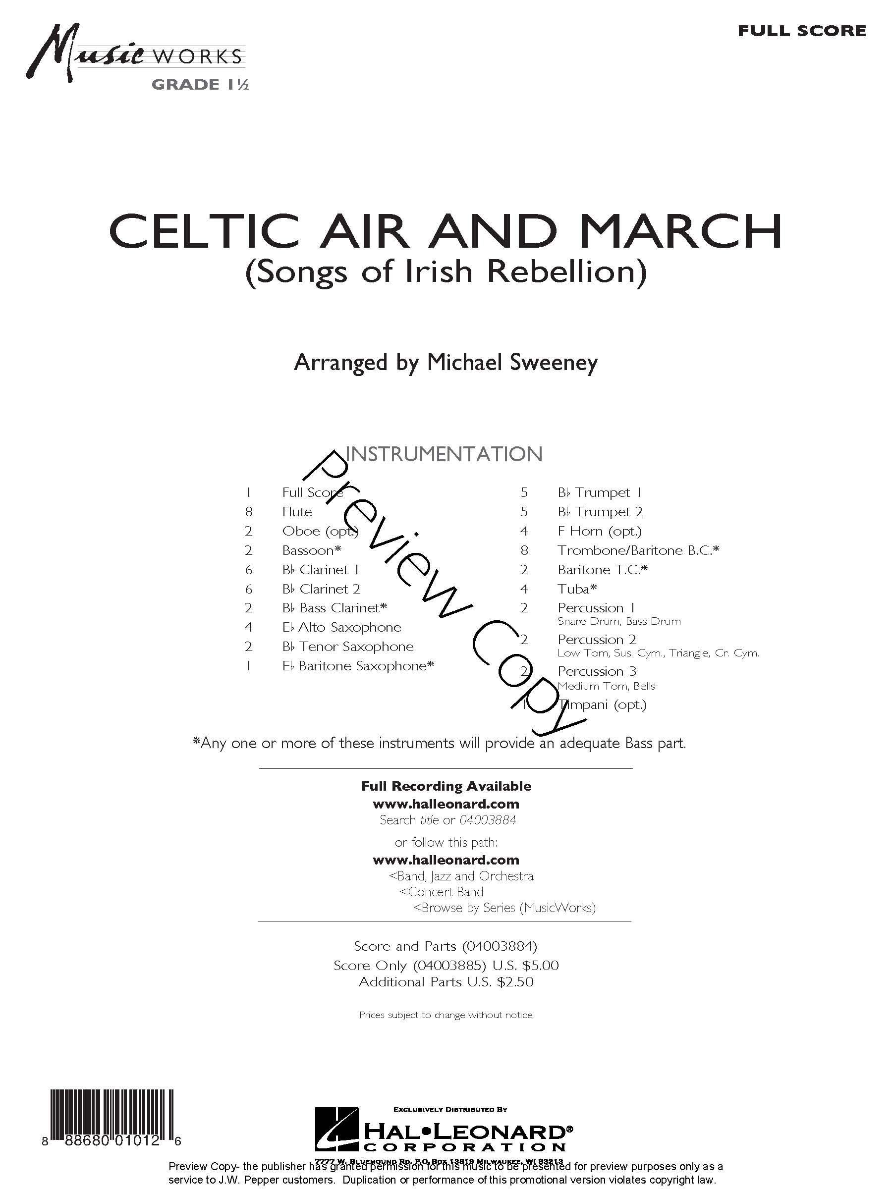 Editors' Choice Celtic Air and March