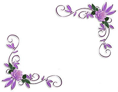 Pic Border Free Purple Google Sok Page Borders Design Floral Border Design Page Borders