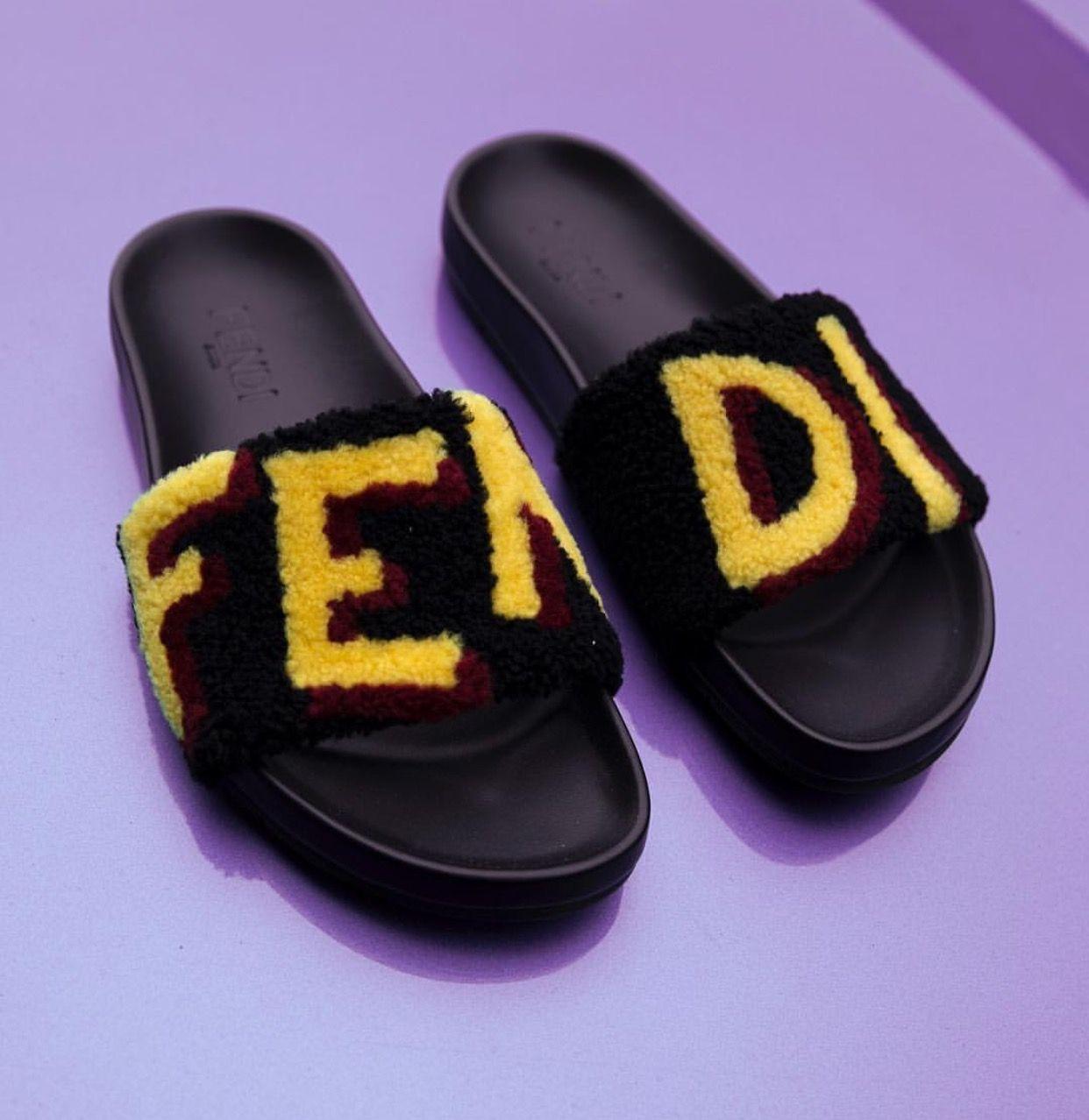 Fendi Fur Slides Stylish Shoes Pinterest Fur Slides