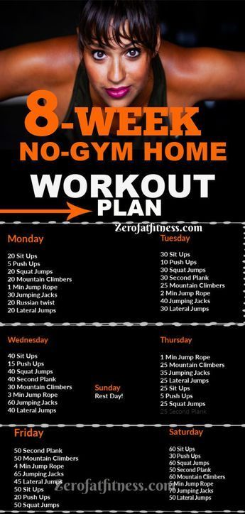 8-Week Workout Plan to Lose Weight Fast at Home with No Gym #fitness #fitnessworkouts