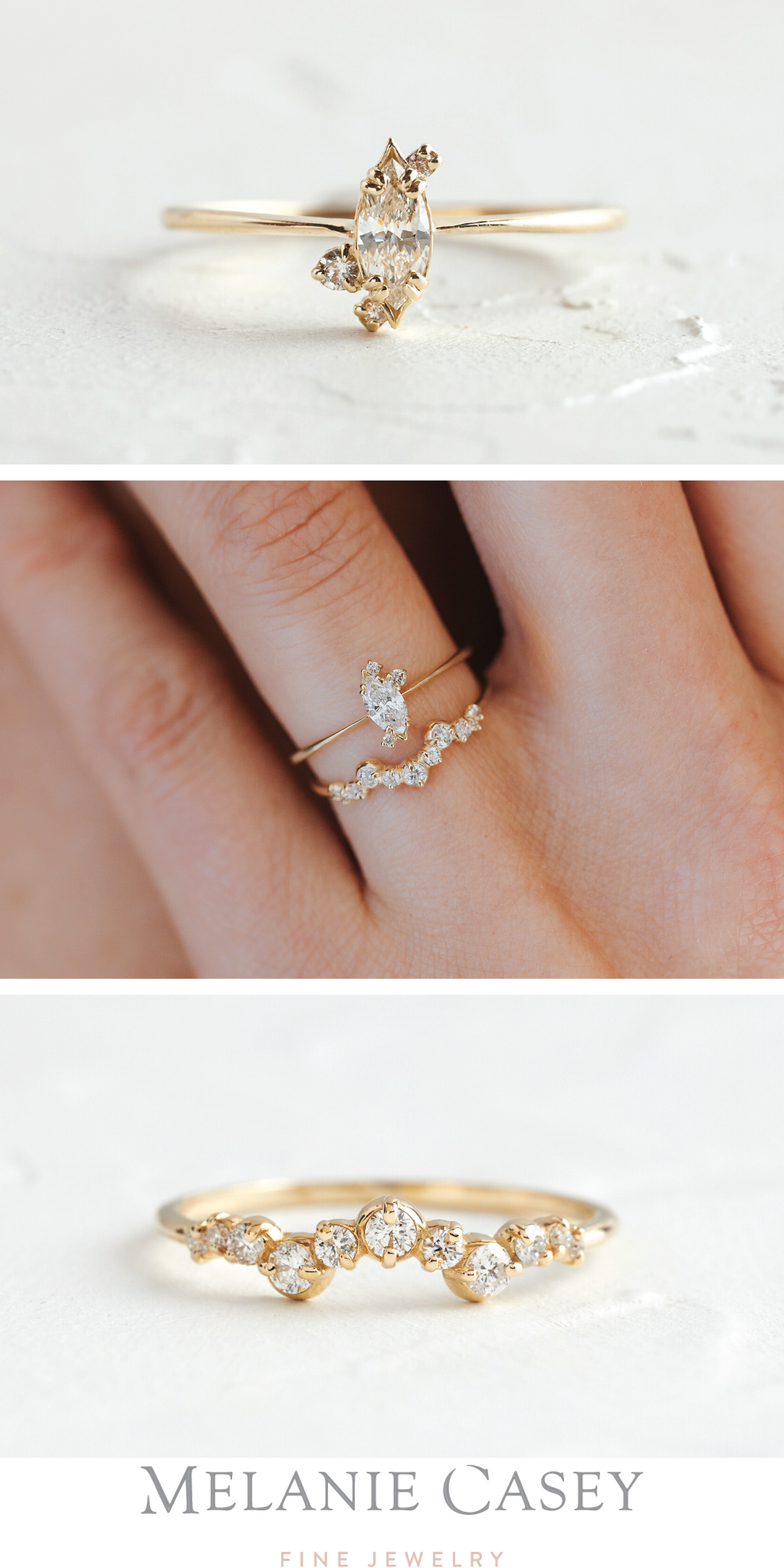 Diamond Ember Ring Gold Engagement Ring In 2021 Artsy Engagement Rings Wedding Day Jewelry Boho Wedding Ring
