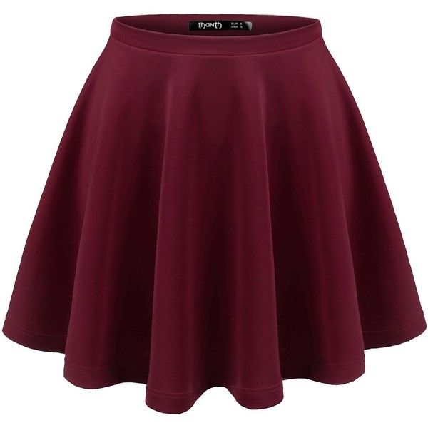 Thanth Womens Versatile Stretchy Pleated Flare Short Skater Skirt (175 ARS) ❤ liked on Polyvore featuring skirts, mini skirts, bottoms, flare skirt, short pleated skirt, circle skirt, short mini skirts and flared skirt
