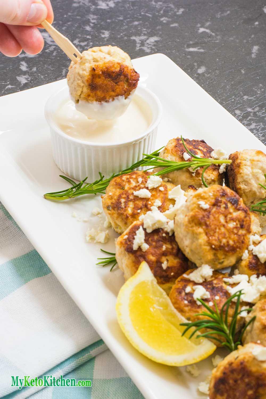 Low Carb Chicken Feta Meatballs   Rezept   Englische rezepte ...