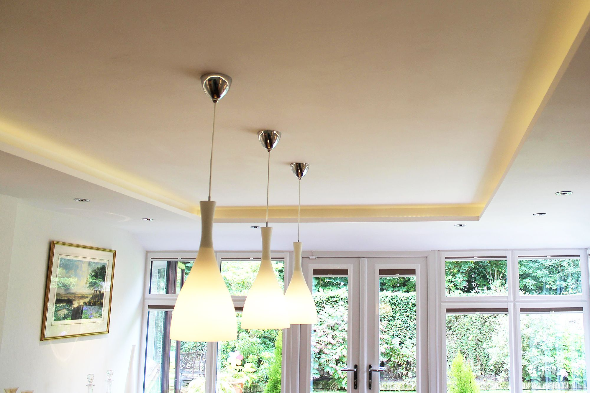 Internal View of the Tiled Conservatory Roof; this installation ...
