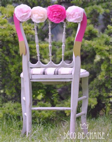 diy d co de chaise diy mariage queen for a day blog mariage wedding decor centerpieces. Black Bedroom Furniture Sets. Home Design Ideas