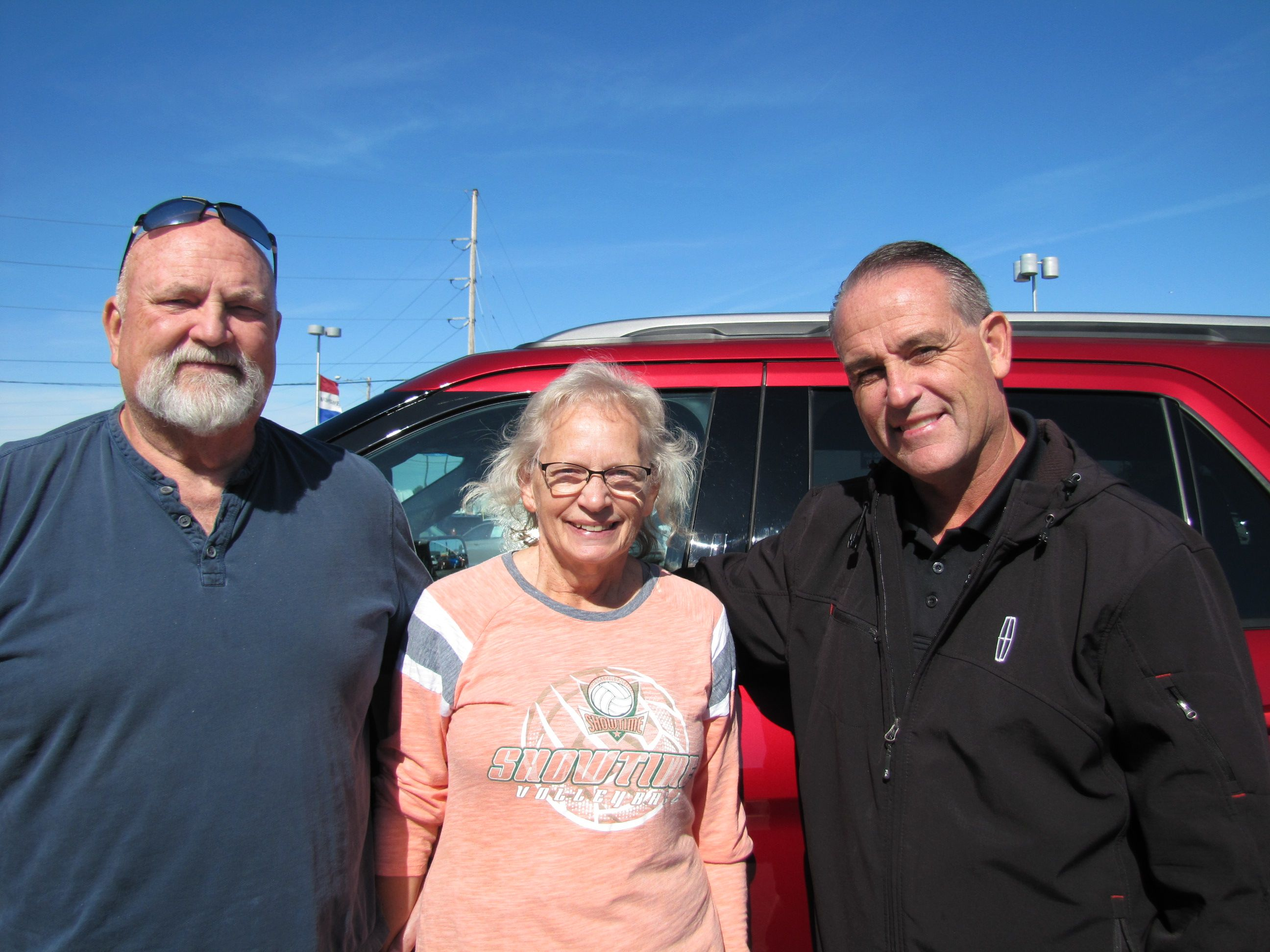 Picture Donald And Irene Ball With Kelly Belcher Congratulations