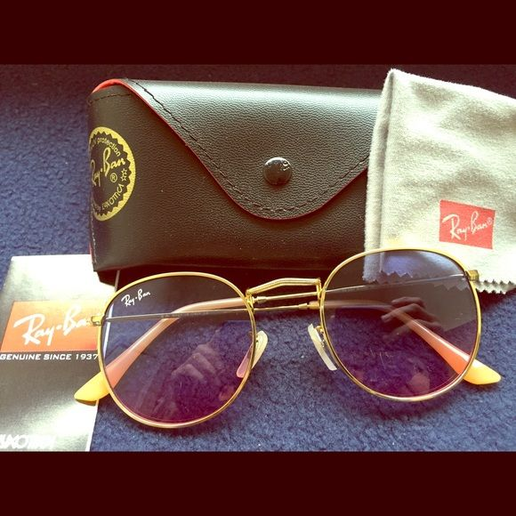sell my ray ban sunglasses  Ray-Ban round Purple and Pink lens! Selling my pair of new Ray-Ban ...
